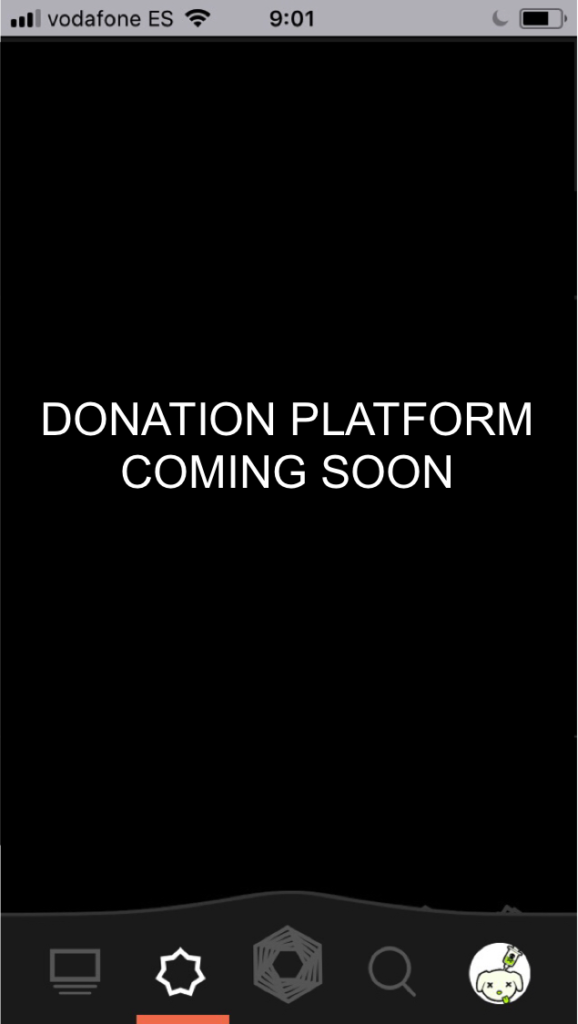 Platform about donations, coming soon